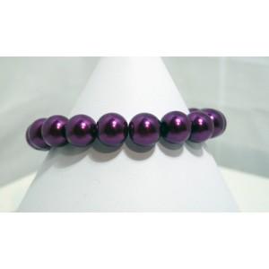 Purple Pearl Bead Bracelet