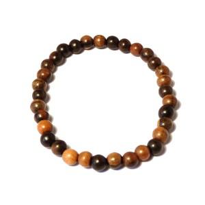 Men's Ebony Wood Bead Bracelet