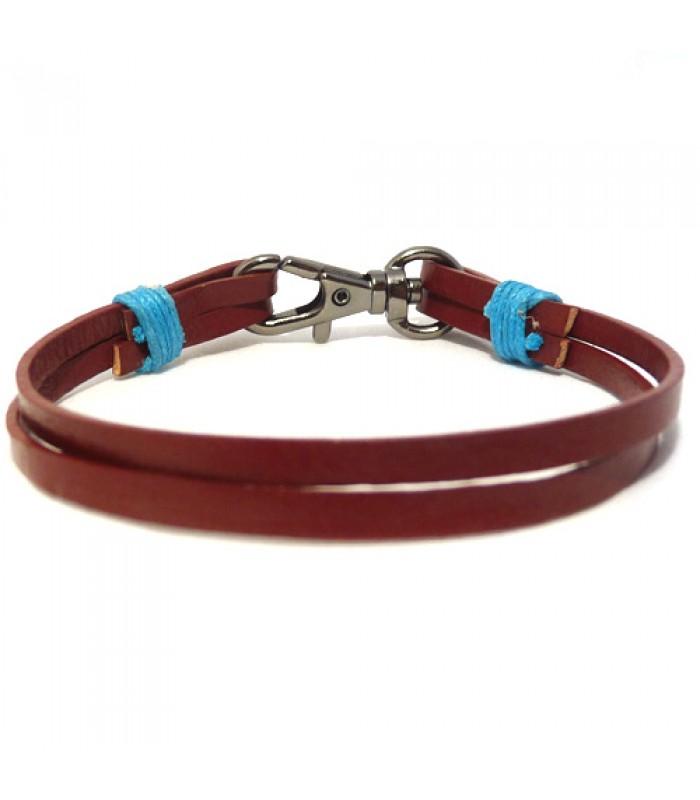 Men's Red Leather Bracelet