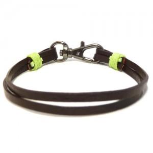 Men's Chocolate Leather Bracelet