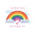 Personalised Rainbow Baby Birth Celebration A4 PRINT