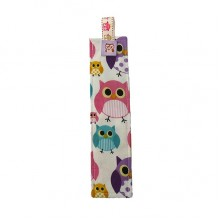 Fabric Bookmark - Owls