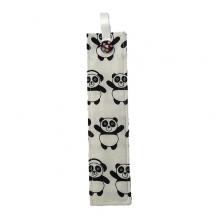 Fabric Bookmark - Panda