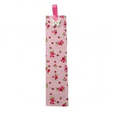 Fabric Bookmark - Pink Floral