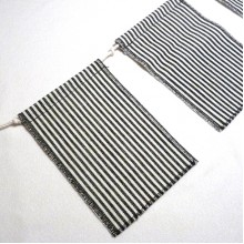 Striped Flag Bunting - Black and White