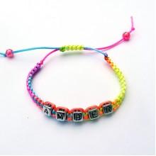 Children's Personalised Multi Colour Bracelet