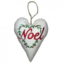 Padded Noel Heart Wreath