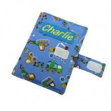 Personalised Colouring Wallets - Lots of Fabric Choices