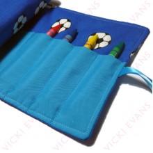 Crayon Roll - Blue - Football