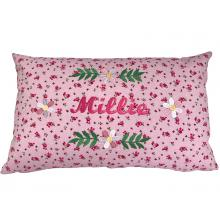 Personalised Embroidered Flower Cushion