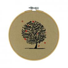 I Love My Family Tree Embroidered Hoop