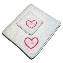 Personalised Embroidered Children's Towel Set - Girls