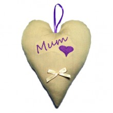 Personalised Embroidered Padded Heart