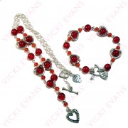 Red Heart Frame Jewellery Set