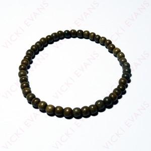 Greywood Bead Bracelet 5mm
