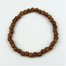 Palmwood 5-6mm Wood Bead Bracelet
