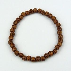Palmwood 5-6mm Wood Bead Bracelet