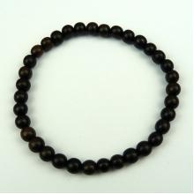 Tiger Ebony 6mm Wood Bead Bracelet