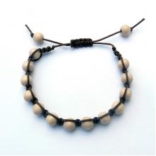 Mens Wood Bead Square Knot Bracelets