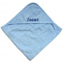 Personalised Blue Hooded Baby Towel