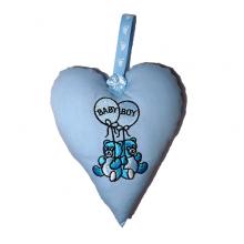 Baby Boy Padded Heart Decoration