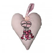 Baby Girl Padded Heart Decoration