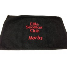 Embroidered Towel - Text Only (Snooker/Pool)