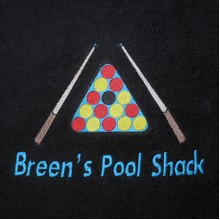 Embroidered Towel - Text and Image (Snooker/Pool)