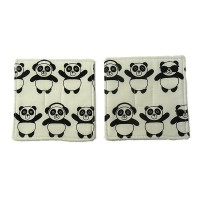 Panda Fabric Coaster Set