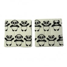 Panda Fabric Coaster Set