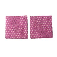 Pink Flowers Fabric Coaster Set