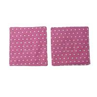 Pink Flowers Fabric Coaster Set