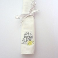 Embroidered Wedding Handkerchiefs / Napkins
