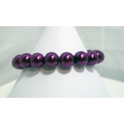 Purple Pearl Bead Bracelet