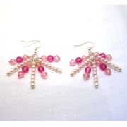 Pink and Pearl Earrings