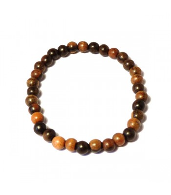 Men's Ebony Wood Bead Bracelet