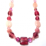 Pink Bead Jewellery Set 2