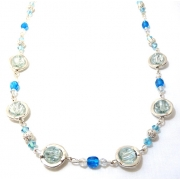 Blue Circles Jewellery Set