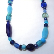 Blue Bead Jewellery Set