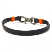Men's Blue Leather Bracelet