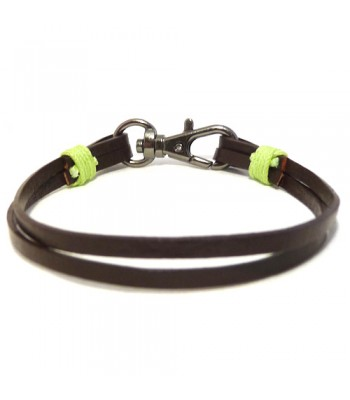 Men's Chocolate Leather Bracelet