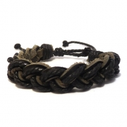 Men's Leather Plaited Bracelet 3