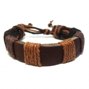 Men's Leather Corded Bracelet