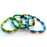 Men's Handmade Paper Bead Bracelets