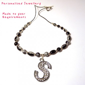 Personalised Initial Pendant Jewellery - Necklace, Bracelet, Earrings