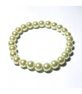 Cream Pearl Bead Bracelet