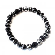 Black and Silver Drawbench Bracelet