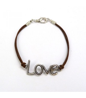 Love Charm Bracelet - Brown