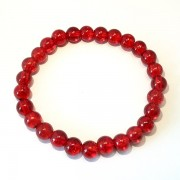 Red Crackle Glass Bracelet