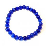 Electric Blue Cats Eye Bracelet